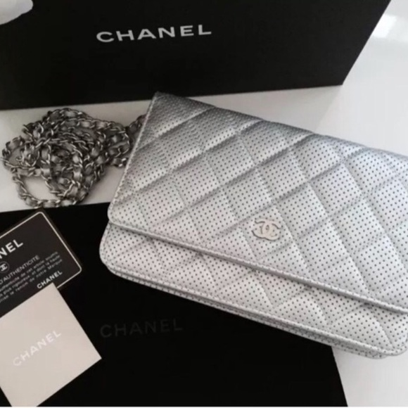 1e0474299583 CHANEL Bags | Authentic Wallet On Chain Silver | Poshmark